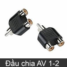 Đầu jack chia AV/RCA/Video 1 ra 2 – Màu đen (loại thường)