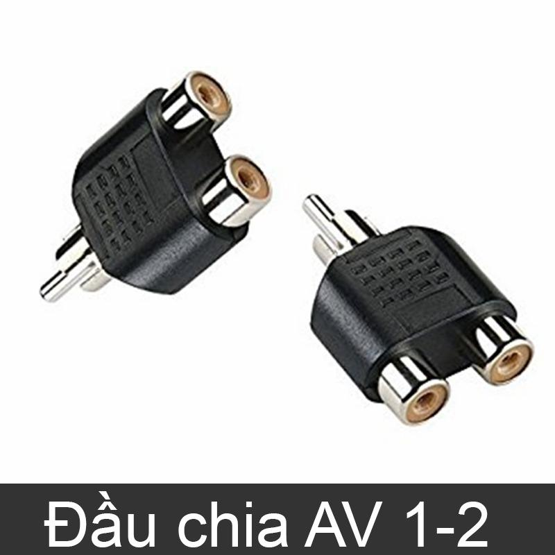 Đầu jack chia AV/RCA/Video 1 ra 2 - Màu đen (loại thường)