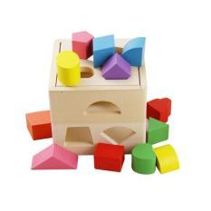 Đồ chơi gỗ – Hộp thả hình khối 13 lỗ hình vuông