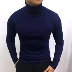 Áo len nam cổ cao