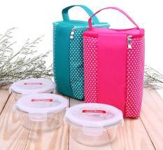 Túi Giữ Nhiệt Đựng Cơm Chấm Bi ( 2 màu)