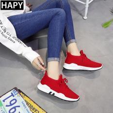 LOẠI ĐẸP Giày thể thao sneaker nữ đế êm, 3 lỗ thoáng khí HAPLI (đen, hồng nhạt)