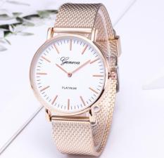 Đồng hồ nam dây lưới siêu mỏng Geneve classic sang trọng (Gold và Silver)