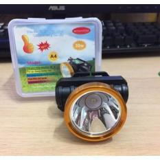 (HÀNG CÔNG TY CHUẨN) Đèn Sạc LED Đội Đầu – Đèn pin Đội Đầu Siêu Sáng A4 loại pin sạc – ánh sáng trắng