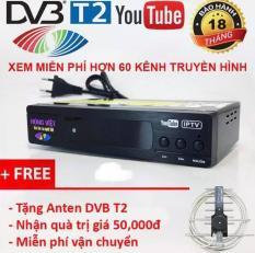 Đầu thu kỹ thuật số DVB-T2 HÙNG VIỆT TS-123 Internet KÈM ANTEN + 15M DÂY