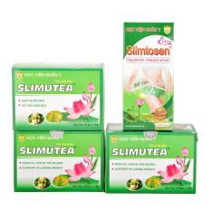 Liệu trình giảm cân gồm 1 Slimtosen Extra và 3 trà sen Slimutea HVQY