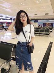 Chân Váy Jeans Dài Kèm Thắt Lưng Thời Trang OHS910