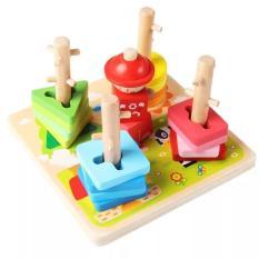Đồ Chơi Gỗ Bộ Luồn Cọc Luyện Tay Montessori Giúp Bé Tư Duy Thông Minh