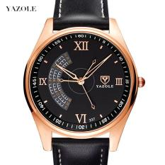 (Cập nhật 2019)Đồng hồ nam thời trang dây da cao cấp Yazole Q04