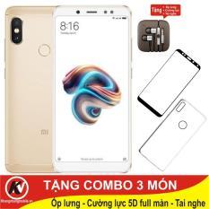 Giá Xiaomi Redmi Note 5 Pro, Note5 Pro, Note5Pro 64GB Ram 4GB Kim Nhung + Ốp lưng + Cường lực full màn hình 5D + Tai nghe Kim Nhung Mobile