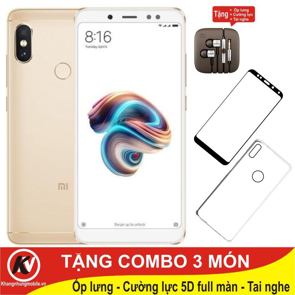 So sánh giá Xiaomi Redmi Note 5 Pro, Note5 Pro, Note5Pro 64GB Ram 4GB Kim Nhung + Ốp lưng + Cường lực full màn hình 5D + Tai nghe Tại Kim Nhung Mobile