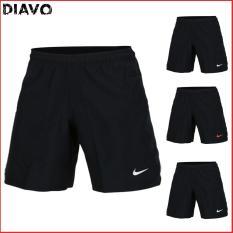 [Miễn Phí Ship Có Mã Giảm Giá] Quần thể thao nam co giãn thoáng mát đen đơn giản – DIAVO