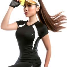 Áo thun thể thao cổ tròn tập gym, yoga, aerobic năng động, hiện đại