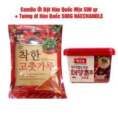 Combo Bột Ớt Mịn + Tương Ớt Hàn Quốc (500G)