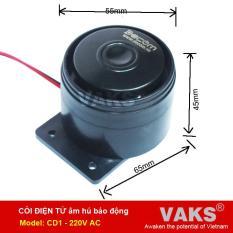 Còi điện tử hú báo động dùng điện 220V AC (Đen)