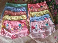 sét 10 quần đùi chíp in hình dễ thương cho bé gái