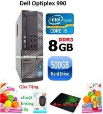 Thùng CPU Dell optiplex 990 ( Core i5 2400 / 8G / 500G ) Tặng chuột không dây chính hãng , bàn di chuột , Bảo hành 24 tháng – Hàng nhập khẩu (Xám)