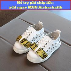 giày sneaker cho bé sành điệu nơ vàng sang trọng