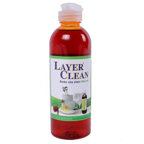Nước rửa chén hữu cơ Layer Clean 800ml sạch ko hại da