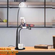 Bộ Livestream Đa Năng 3 Trong 1 (Đèn LED, Giá đỡ điện thoại, Giá đỡ Micro)