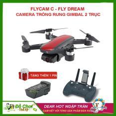 [ TẶNG THÊM 1 PIN ] PHIÊN BẢN VERSION 2 – Máy Bay Flycam C-Fly Dream Gimbal 2 trục, 1080P HD Camera, đông cơ không chổi than đối thủ của DJI Spark