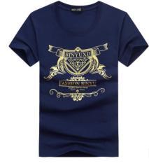 Áo thun nam in Kim cuơng vàng chữ kiểu sao phong cách hàn quốc vải dày mịn ACGNAM399 (Đen)