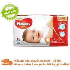 Tã dán cao cấp Huggies GOLD size S – Gói 40 miếng (Cho bé từ 4-8kg)