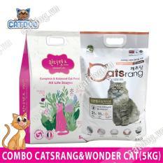 Combo thức ăn hạt cho mèo Catsrang 5kg & 1 thức ăn hạt Wonder Cats 5kg