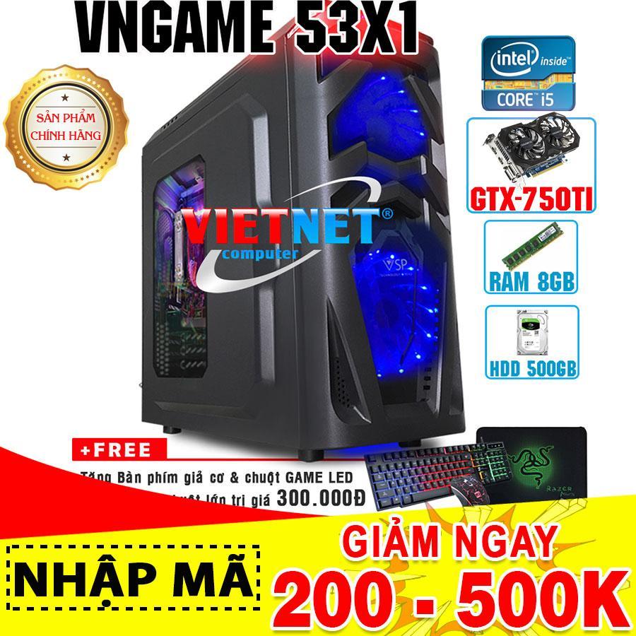 Mua Máy tính chơi game VNgame 53X1 core i5 3470 GTX750Ti 8GB 500GB (chuyên LOL, GTA 5, Battelground, Overwatch) Tại VietNet Computer
