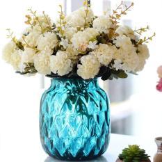 Hoa giả – cành hoa tú cầu lụa 10 bông trang trí nhà cửa, sự kiện, sinh nhật siêu xinh, hoa giả phong cach Châu Âu HC10