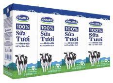 Sữa tiệt trùng Vinamilk 100% ít đường 180ml