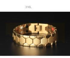Lắc tay thời trang nam thép mạ 18k kiểu dáng lục giác Z135