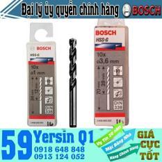 BỘ MŨI KHOAN SẮT 10 MŨI HSS-G BOCSH 1.5mm – 2608595050