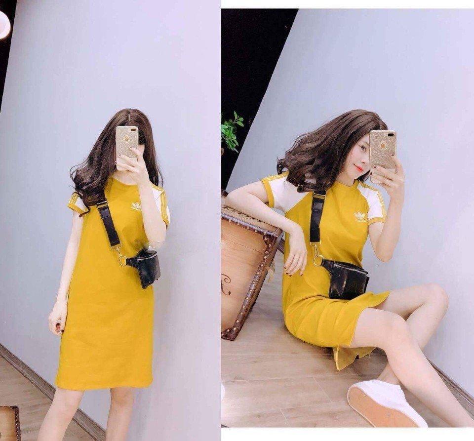 Đầm suông thể thao năng động, hàng may xưởng Việt Nam chất lượng cao