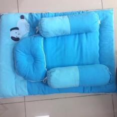 Bộ nệm gối sơ sinh kim home cho em bé từ 0-2 tuổi, ruột nệm là gòn tấm cao cấp, vỏ nệm/gốimay bằng vải Cara, hút ẩm, kiểu dáng ngộ nghĩnh
