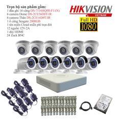 Trọn bộ 12 camera giám sát HIKVISION TVI 2 Megapixel DS-2CE56D0T-IR chuẩn Full HD