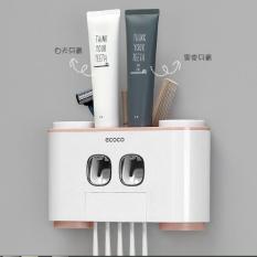 Bộ nhả kem đánh răng cao cấp Ecoco 4 cốc