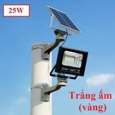 Đèn pha năng lượng mặt trời 25W cảm biến ngày đêm có remote điều khiển