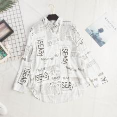 Áo Sơ Mi Nữ Họa Tiết Hình Kiểu Chữ Dáng Trẻ Thanh Lịch Trẻ Trung Đường Phố Thời Trang NTD Fashion WM SOMI 800020