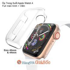 Ốp Trong 2in1 Full Màn Hình Và Viền Apple Watch 4 (Vỏ Apple Watch, Hangtotgiasoc)