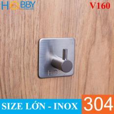 Móc Đơn Inox 304 Treo Quần Áo Dán Tường Siêu Dính Hobby PK01