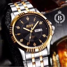 Đồng hồ Nam BOSCK 3021 [Billux] dây kim loại – 40mm (Trắng Vàng) (Tặng vòng tay tỳ hưu mạ vàng) [BOKMT003]