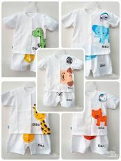 Set 5 bộ cộc tay BiBo cho bé từ 0-12 tháng