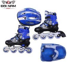 Giày trượt patin Longfeng 906 size M (Từ 6-10 tuổi 35-38) + Tặng bộ bảo hộ