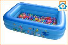 Nhà bóngChữ nhật (120 x 85 x 35cm) kiêm Bể bơi Hồ bơi Phao bơi Nhà banh Nhà bóng Moon Shop30
