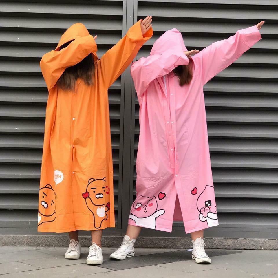Áo mưa chống nước gấu cute