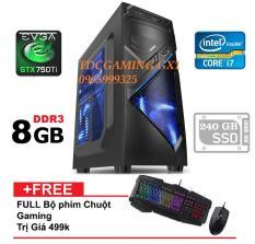 Máy tính chơi Game Intel Core i7 3770, Ram 8gb, SSD 240gb, Card màn hình GTX 750ti (chuyên LOL, fifaonline 4, PUBG, Stream). Tặng combo bàn phím, chuột chuyên game. Bảo hành dài, 24 tháng 1 đổi 1.(máy tính để bàn chơi game, máy tính để bàn cấu hình khủng)