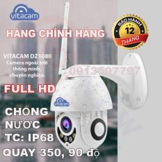 Camera ngoài trời vitacam dz1080 xoay 350 độ, đàm thoại 2 chiều, chống lóa ,chống nước chuẩn ip 68