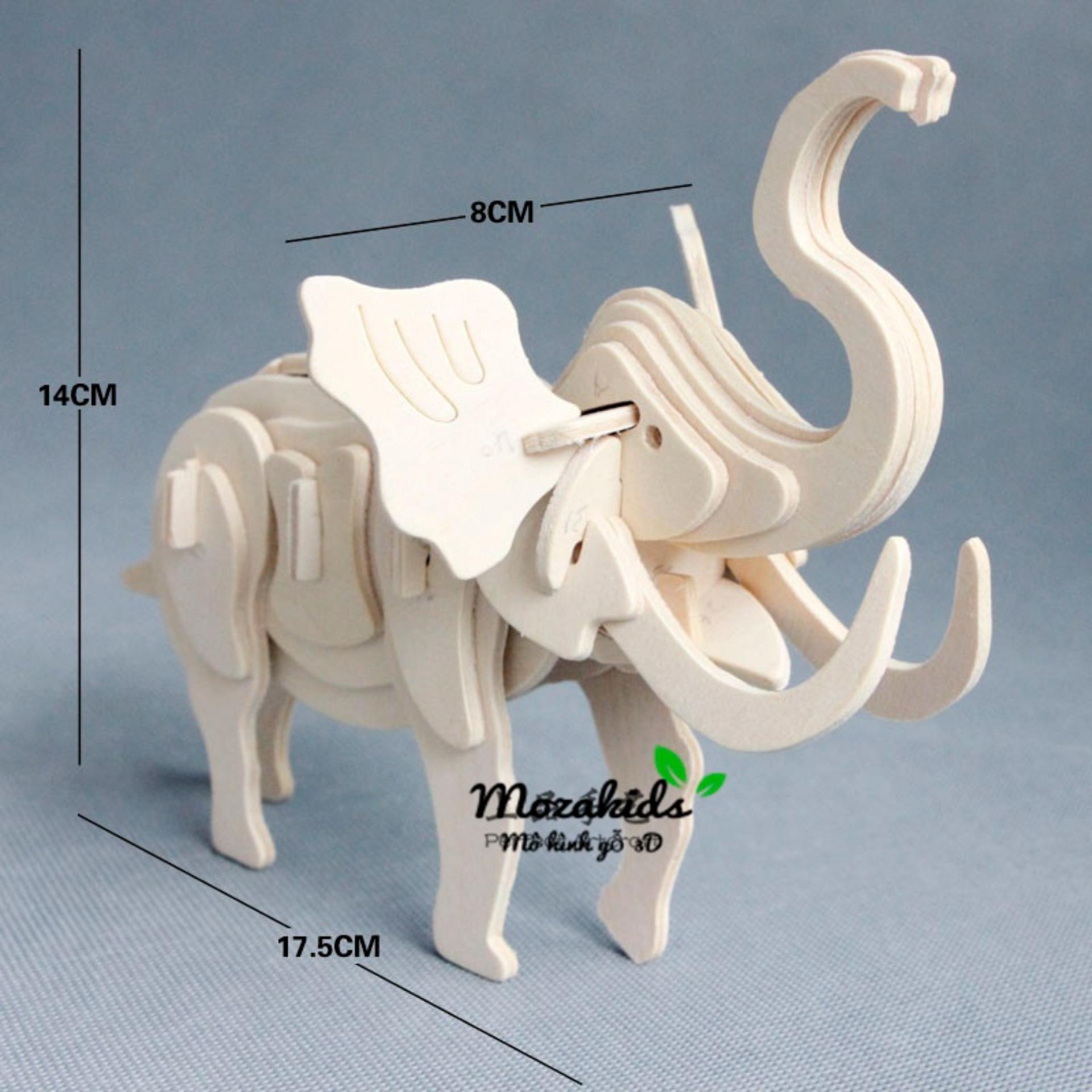Đồ chơi lắp ráp gỗ 3D Mô hình Con Voi