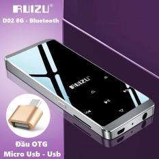 Máy nghe nhạc thể thao HiFi Ruizu D02 – Music Player Ruizu D02 – Tặng kèm đầu OTG kết nối với điện thoại